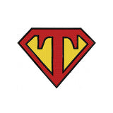 Superman Letter T Machine Embroidery Designs 819