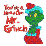 The Grinch Stole Machine Embroidery Designs 1281