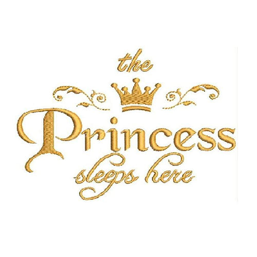 The Princess Sleeps Here Embroidery Designs - Instant Download Filled Stitches Design 1579