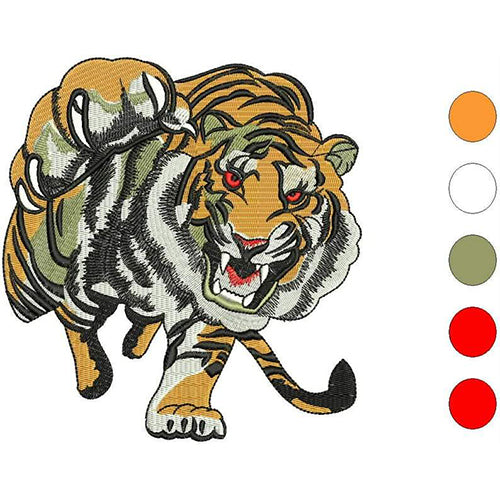 Tiger Prowl Machine Embroidery Designs 1884