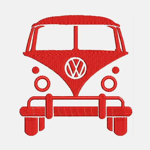 VW Volkswagen Bus Van Machine Embroidery Designs 881