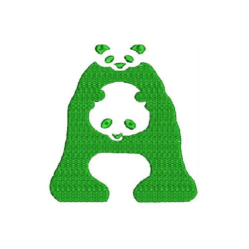 WWF's New Panda Font A Machine Embroidery Designs 1485