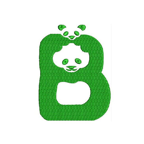 WWF's New Panda Font B Machine Embroidery Designs 1486