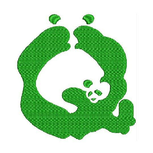 WWF's New Panda Font Q Machine Embroidery Designs 1488