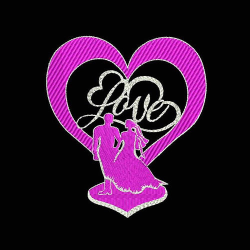 Wedding Anniversary Decor Love Filled Stitches Embroidery Design 633