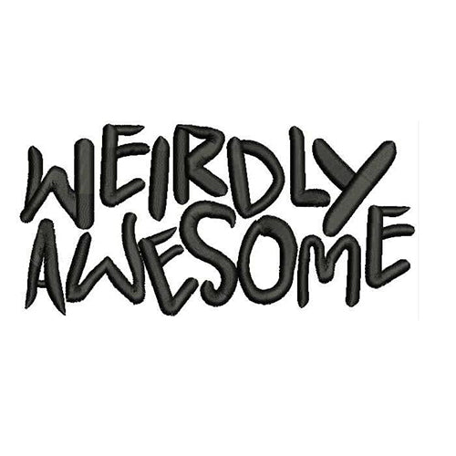Weirdly Awesome Filled Stitches Embroidery Design 1159