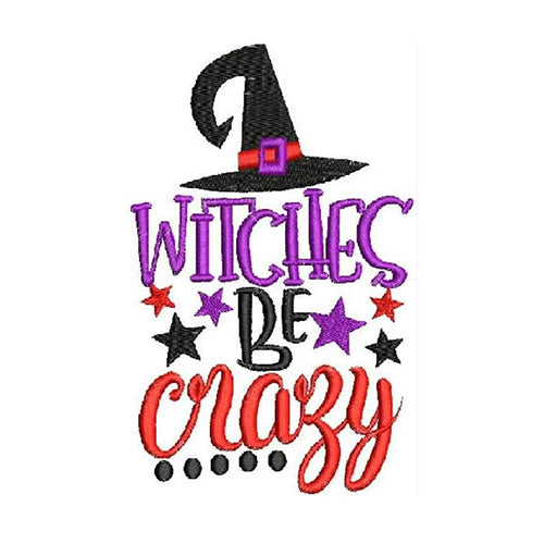 Witches be Crazy Machine Embroidery Designs 1584