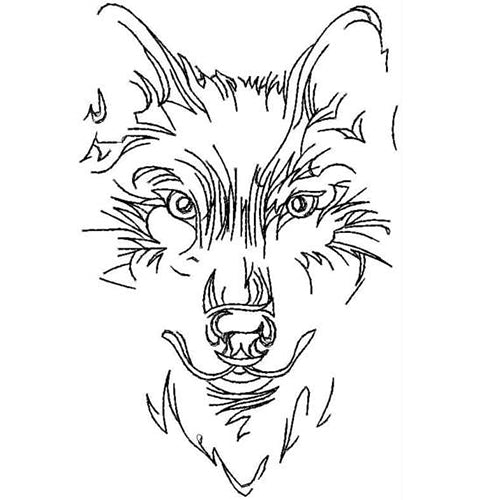 Wolf Face Skates Machine Embroidery Designs 31