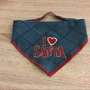 I Love Santa Filled Stitches Design D1003