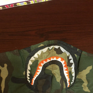 A BATHING APE Shark Teeth Filled Stitches Design 921