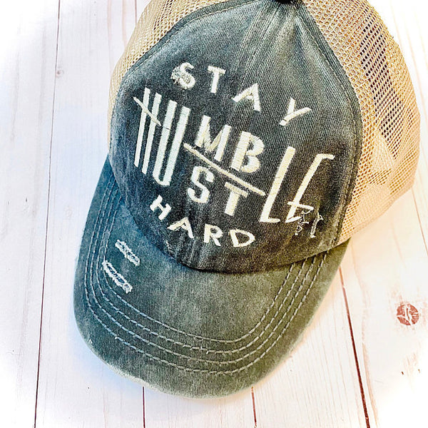 Stay Humble Hustle Hard Embroidery Design