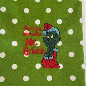 The Grinch Stole Filled Stitches Embroidery Design 1281