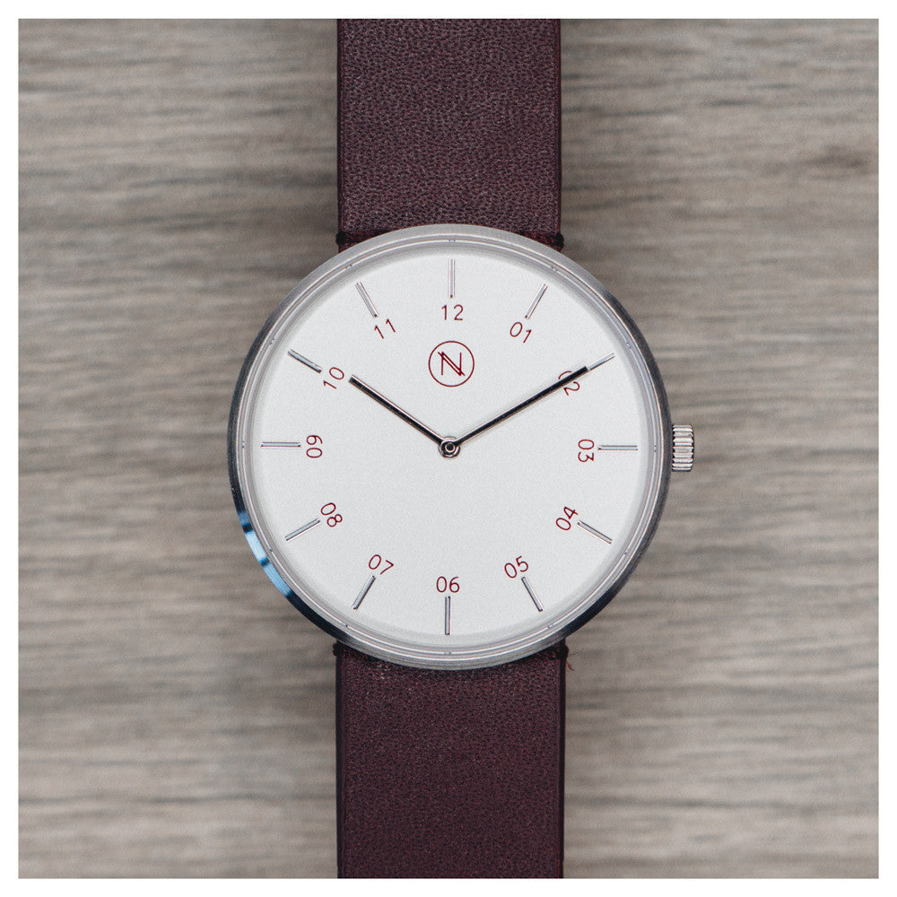 The Eight - Silver & Burgundy