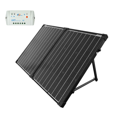 ACOPOWER 100W Foldable Solar Panel Kit with 10A Charge Controller