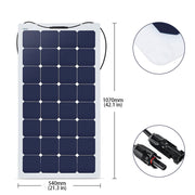 ACOPOWER 440Watts Flexible Solar RV Kit w/ 40A Waterproof Charge Controller