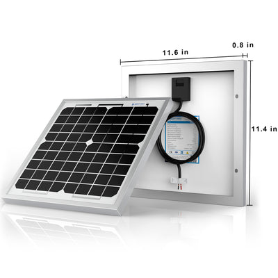 ACOPOWER 10 Watts Mono Solar Panel, 12V