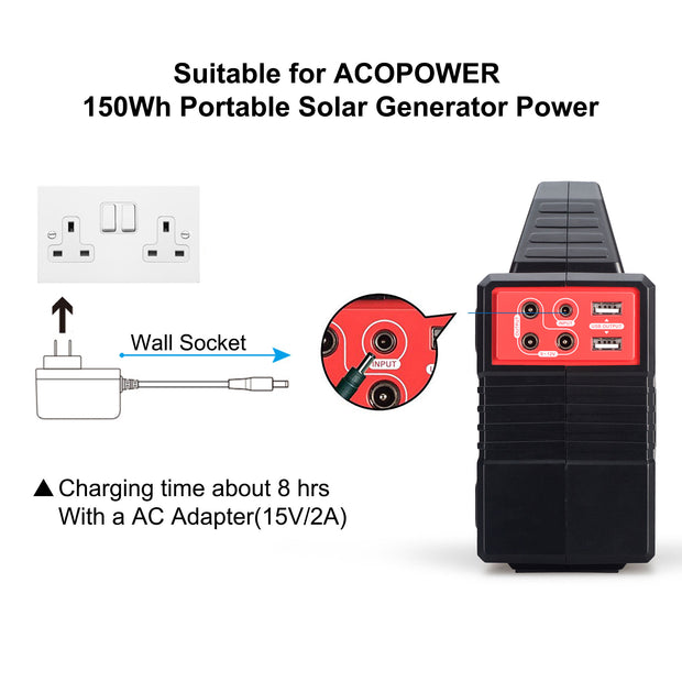 ACOPOWER AC Charge Adapter for 150wh Solar Generaor