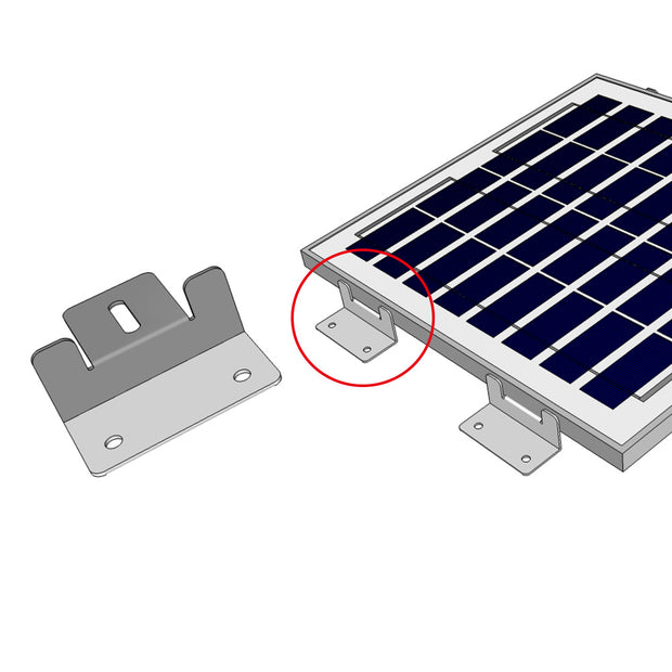 ACOPOWER Solar Panel Mounting Z Bracket - Set of 4 for RV Boat Off Gird Installation - acopower