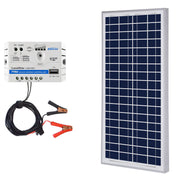 ACOPOWER 35W 12V Solar Charger Kit, 5A Charge Controller with Alligator Clips - acopower