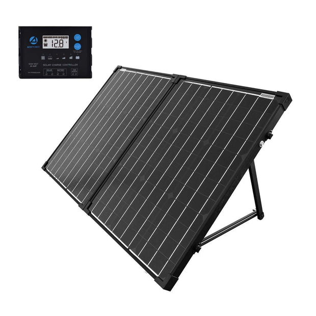 ACOPOWER 100W Foldable Solar Panel Kit, Waterproof ProteusX 20A Charge Controller - acopower