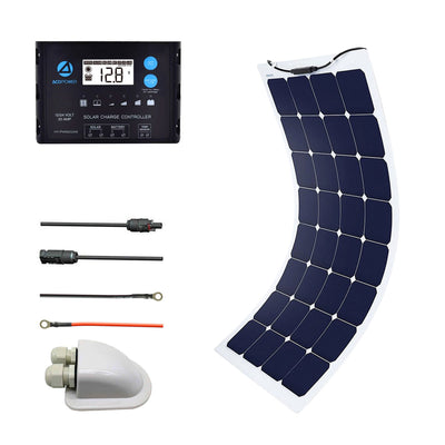 ACOPOWER 110W 12V Flexible Solar Panel Kit w/ 20A PWM Charge Controller