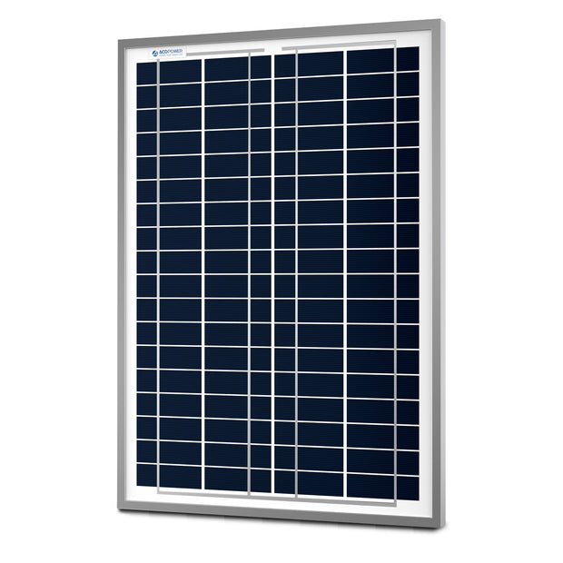 ACOPOWER 25 Watts Poly Solar Panel, 12V