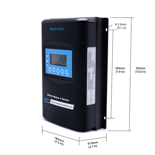ACOPOWER Midas 40A MPPT Solar Charge Controller with Remote Meter MT-50(New Arrival 2020)