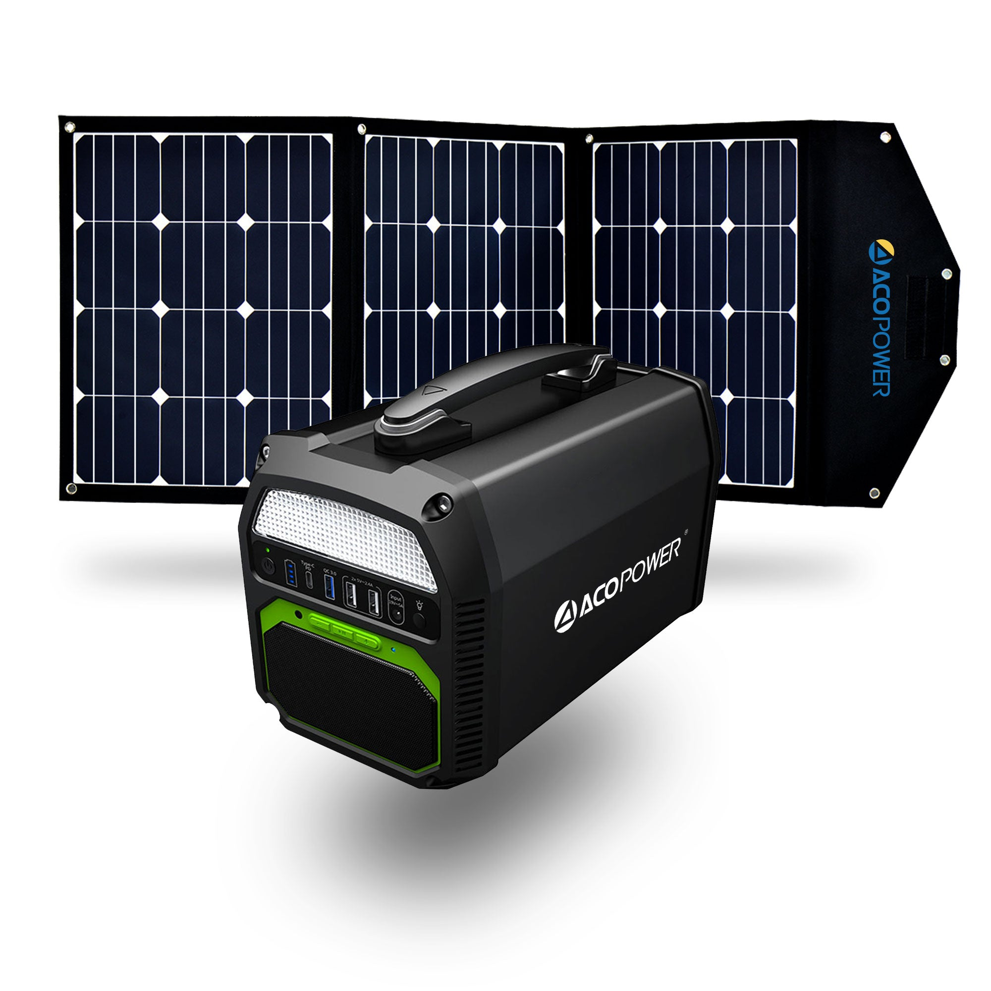 New Arrival 2020 ACOPOWER 154Wh//200w Portable Solar Generator