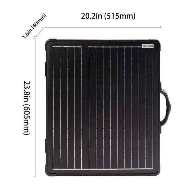 100W Light Weight Foldable Solar Panel Kit, Waterproof ProteusX 20A LCD Charge Controller - acopower