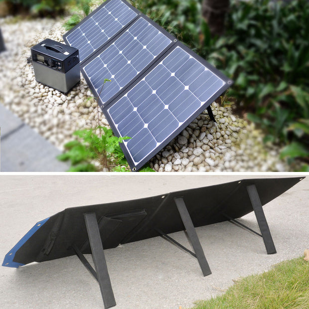ACOPOWER 105W Portable Solar Panel, Foldable Suitcase for 12V Battery