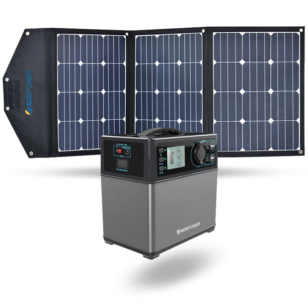 ACOPOWER 400Wh Generator and 105W Portable Solar Panel