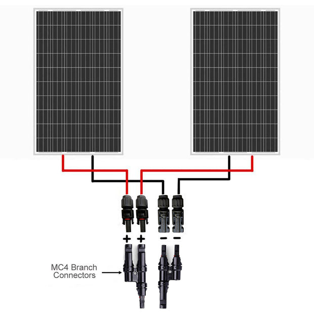 ACOPWER 1 Pair Solar Panel MC4 T/Y Connectors