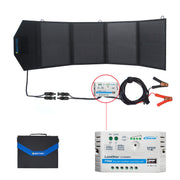 ACOPOWER HY-4x12.5W 12V 50 Watt Portable Solar Panel Kit W/ 5A Charge Controller