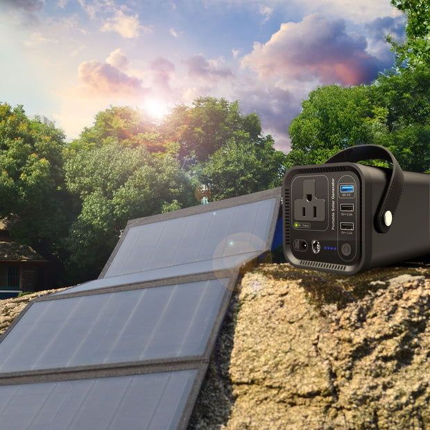 ACOPOWER 154Wh Generator and 50W Portable Solar Panel