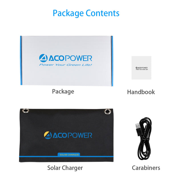 ACOPOWER 21W Portable Solar Panel