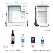 LiONCooler Combo, X50A Portable Solar Fridge/Freezer (52 Quarts) and 90W Solar Panel