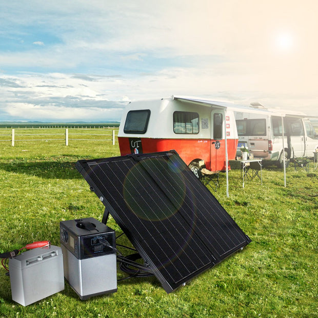 60W Foldable Solar Panel Kit with 10A Charge Controller - acopower