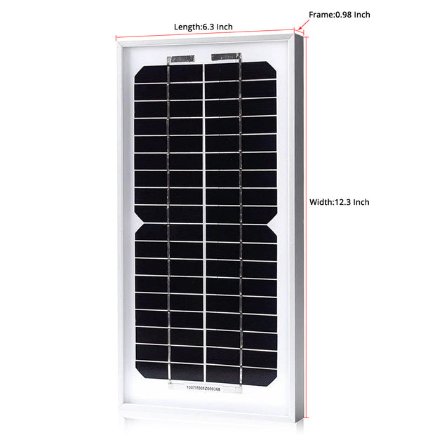 ACOPOWER 5 Watts Mono Solar Panel, 12V - acopower