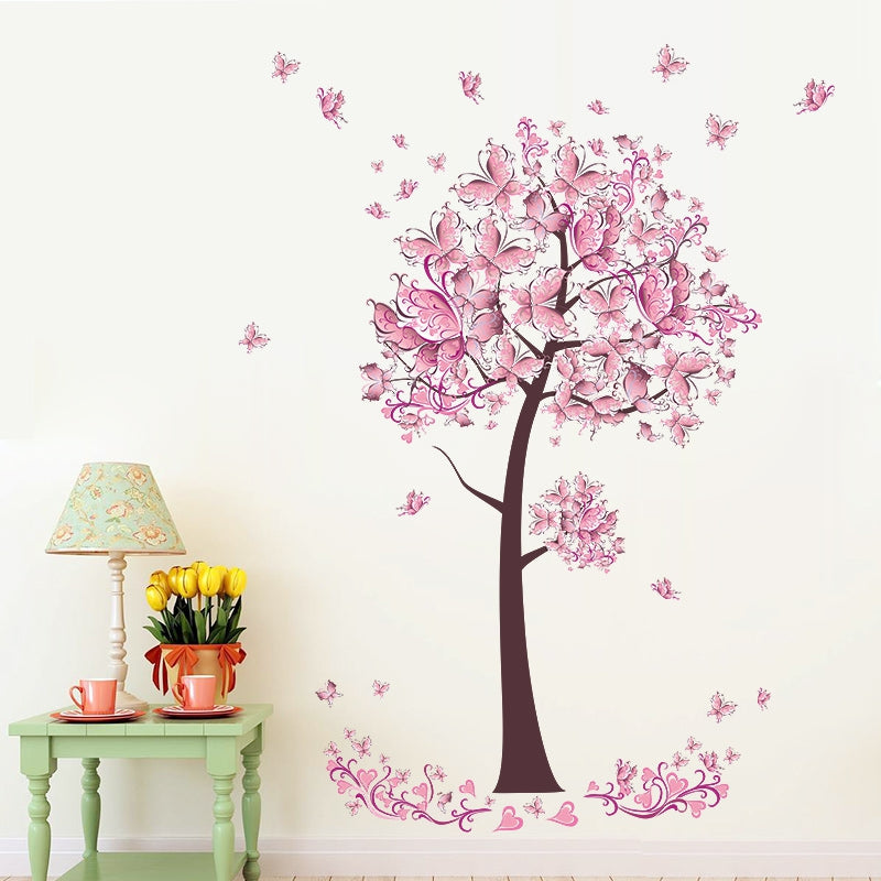 Butterfly Cherry Blossom Decal
