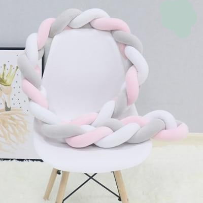 Baby Knotted Braided Crib Bumper