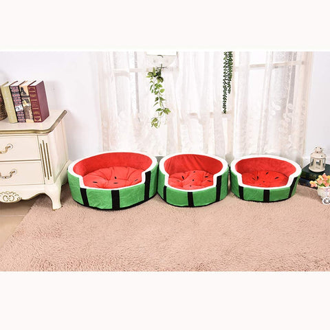 Watermelon Round Pet Cushion Bed