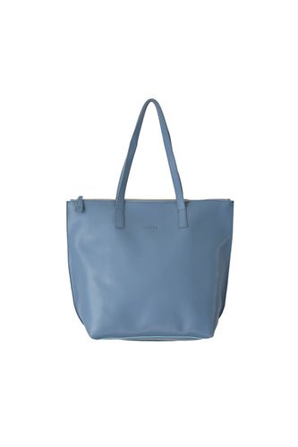 Large Blue Grey Zip Tote