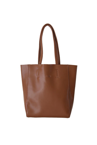 Small Brown Portrait Tote
