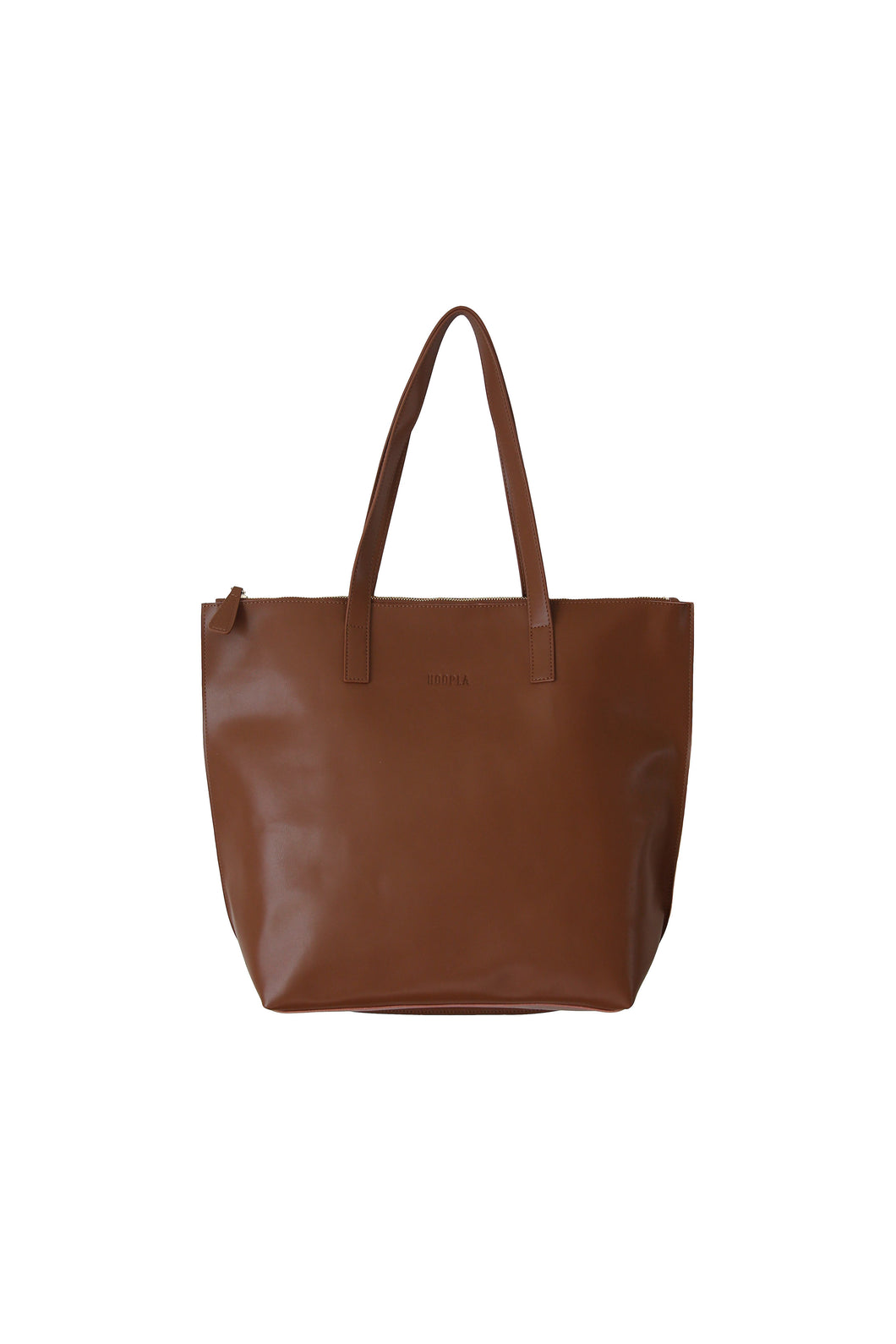 Large Brown Zip Tote