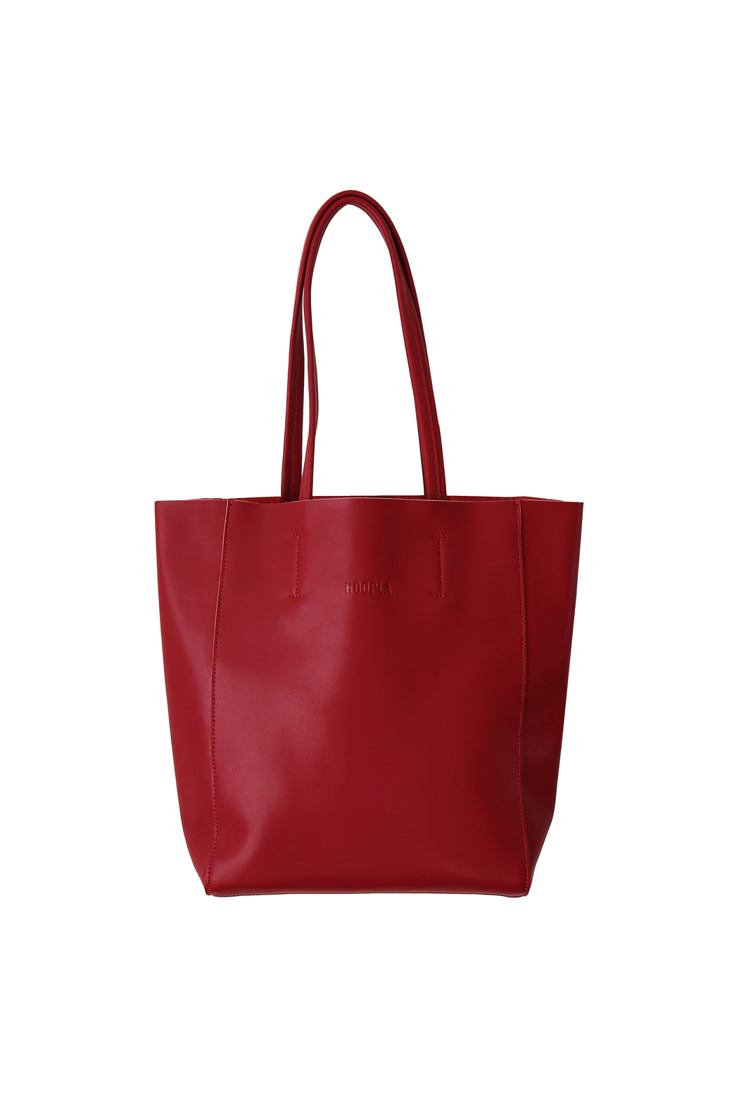 Large Burgundy Portrait Tote