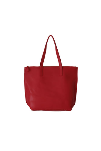 Large Burgundy Zip Tote