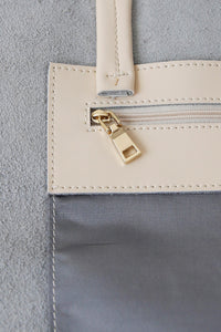 Large Cream Landscape Tote