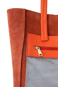 Small Orange Portrait Tote