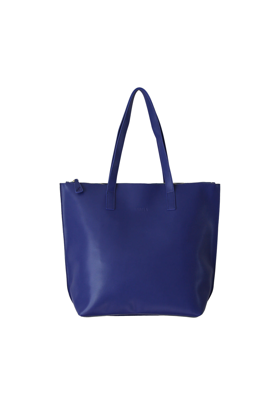Large Blue Zip Tote