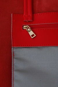 Large Red Zip Tote